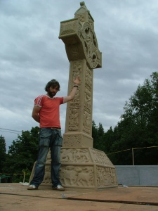 Clonmacnoise replica completed and erected in Portland Oregon USA
